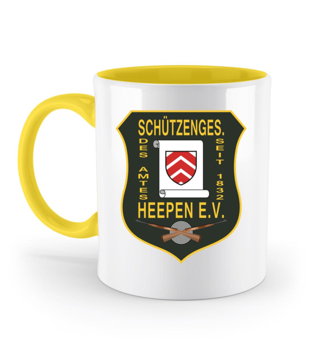 Schützengesellschaft Heepen - Zweifarbige Tasse-5766
