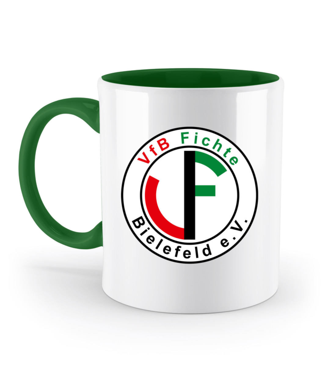 Fichte Bielefeld Logo - Zweifarbige Tasse-30