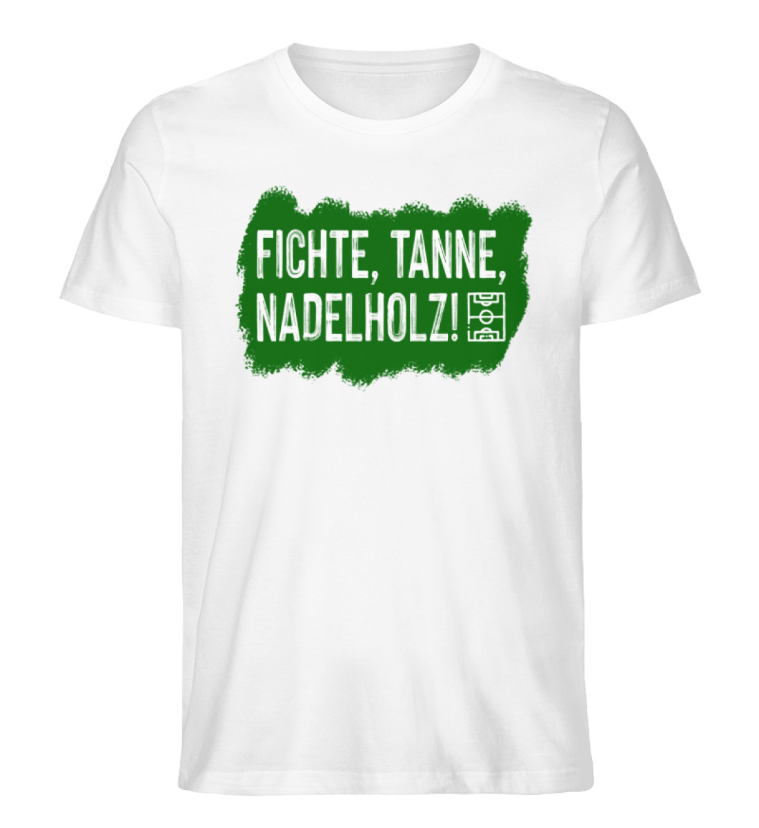 Fichte, Tanne, Nadelholz - Herren Premium Organic Shirt-3